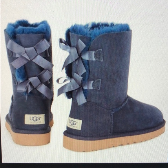 7051c6a51a7 UGG Bailey Bow Boots Navy Blue Brand NEW 7 NWT